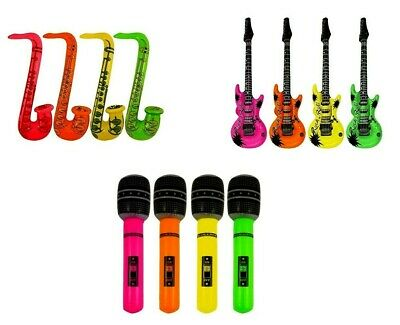 £11.99 • Buy 12 Music Instruments Inflarables ,4 Microphone,4 Saxophone.4 Guitars Blowup UK
