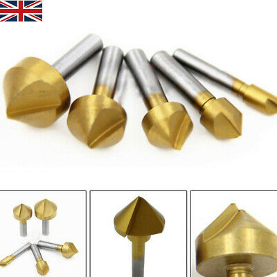 6-19mm Titanium Coated Countersink Drill Bit Set For Wood Plastic Metal Drilling • 4.69£