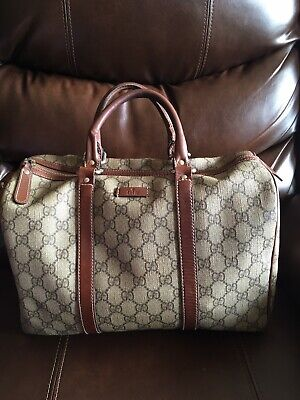 a4c23e76a20c5d Authentic GUCCI Brown Satchel-Speedy-Boston Bag Handbag • 260.00$