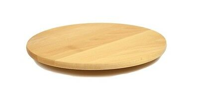 £11.19 • Buy Rotating Wooden Tray Round Lazy Susan 40 Cm Serving Solid Plate Pizza Board