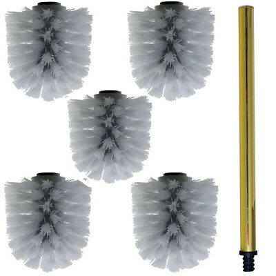 £21.41 • Buy Replacement Toilet Brush Gold Wechselbürste White 5 Pieces With Handle 26cm