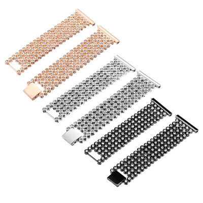 $ CDN32.68 • Buy 17mm Replacement Stainless Steel Diamond Wrist Watch Band Strap For Fitbit Versa