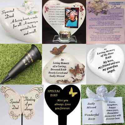 £2.49 • Buy Dad Fathers Day Memorial Plaque Frame Stake Vase Ornament Grave Remembrance Item