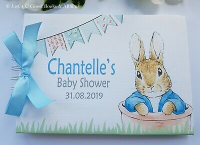 £13.99 • Buy Personalised Peter Rabbit Christening - Naming Day - Baby Shower - Guest Book