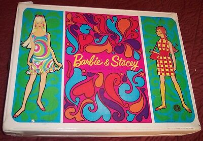 $ CDN40.73 • Buy Vintage Barbie & Stacey Mattel Double Vinyl Doll Case 1967 ???