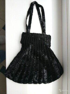 MEXX Beaded Black Purse Bag, Handbag, Pouch, Case, Satchel • 12£
