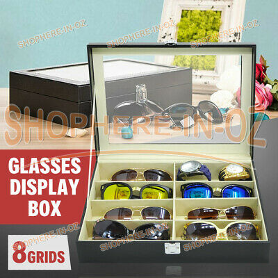 AU22.30 • Buy 8 Grids Sunglasses Glasses Display Storage Case Box Organizer Holder PU Leather