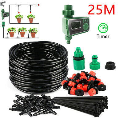 Automatic Timer + Watering Irrigation System Kit Garden Hose Greenhouse Plants • 31.19£