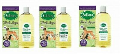 3x Zoflora 500ml GREEN VALLEY Fresh Home Odour Remover Disinfectant Pets Kennels • 14.99£