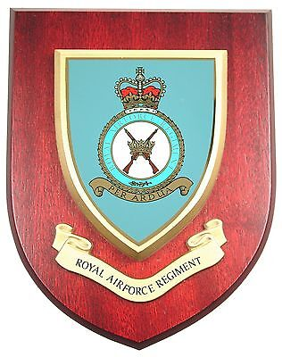 Raf Royal Air Force Regiment Classic Hand Made In The Uk Regiment Mess Plaque • 19.99£