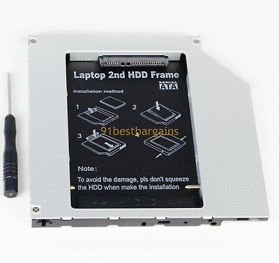 $12.99 • Buy 2nd PATA IDE HD SSD Hard Drive Optical Bay Caddy For Macbook Pro Early 2008 2007