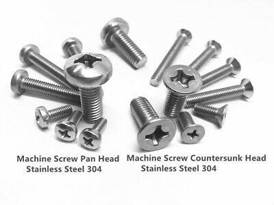 AU7.90 • Buy M5 M6 M8 Machine Screw Pan Head Countersunk Head Stainless Steel 304