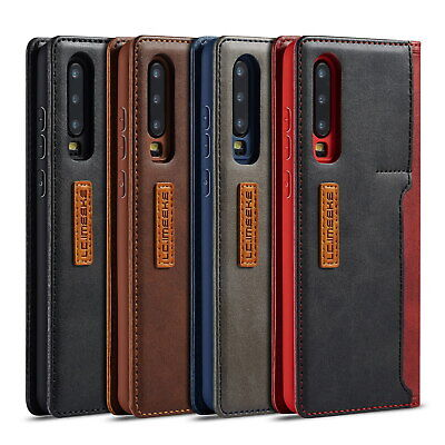 Case For Huawei P30 Pro P20 Mate 20 Leather Flip Wallet Stand Card Phone Cover • 6.45£