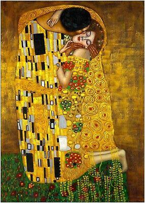 $ CDN18.84 • Buy The Kiss Painting By Gustav Klimt Large Poster Art Print A0 A1 A2 A3 A4 Maxi