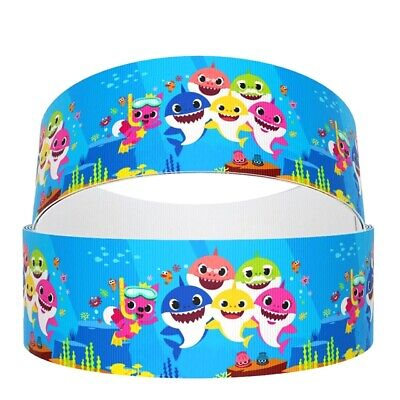 $4.20 • Buy 3  Inch Baby Shark Grosgrain Ribbon - BS05