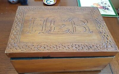 £20 • Buy Antique Wooden Box Arts And Crafts Style With Partitions