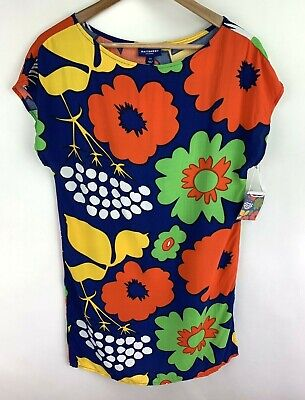05e0f56a8c2 Marimekko For Target Kukkatori Shift Dress XS Poppy Blue Tunic Cover New  $27 • 18.39$