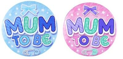 Baby Shower Party Badge Mum To Be Boy Girl Gender Reveal Game Decorations  • 1.49£