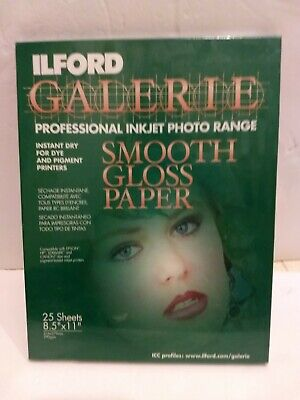 ILFORD Galerie Professional Inkjet  8.5x11- 25 Sheet - Smooth  Gloss • 6.51£