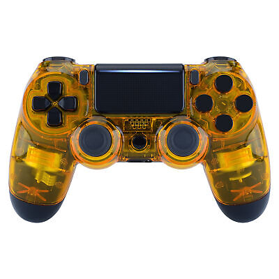 AU22.71 • Buy Transparent Clear Yellow Top Housing Shell Case For PS4 Slim Pro Game Controller