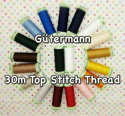 £2.49 • Buy Gütermann Topstitch Thread -30m Reel Extra Strong Button Machine + Hand Sewing