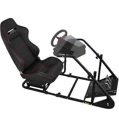 AU394.97 • Buy RS6 Racing Simulator Cockpit Gaming Chair W/ Stand For Logitech G29/G920/PS3/PS4