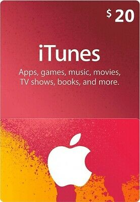 AU33.95 • Buy $20 Apple US ITunes Card Gift Card 20 Dollar Voucher Certificate -FAST DISPATCH