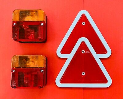 AU24.23 • Buy Combination Trailer Lamp Red/White Triangle Reflector Set Replacement Or Upgrade