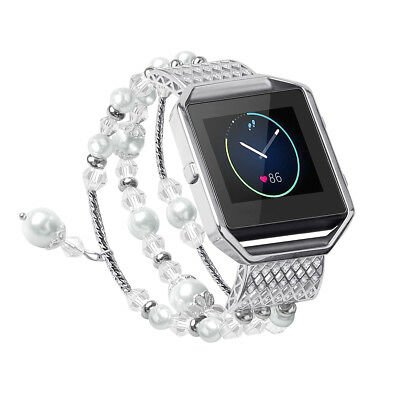 $ CDN22.36 • Buy Fitbit Blaze Replacement Pearl Diamond Metal Strap Elegant Wrist Band