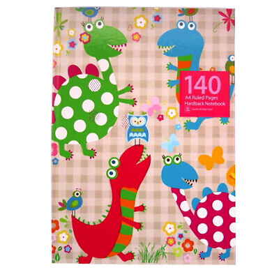 £3.95 • Buy A4 Hardcover Children's Notebooks - 4 Designs, 140 Pages, Dinosaur, Waves...