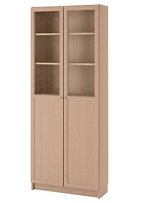 IKEA Bookcase With Panel/glass Doors • 105£