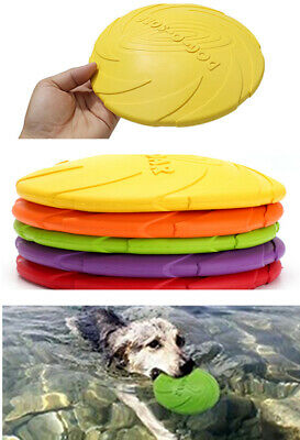 AU11.99 • Buy Funy Flyer Dog Toy Dog Training Toy Frisbee Flying Disc Tooth Resistant