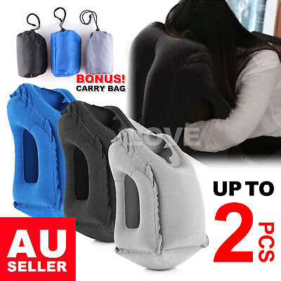 AU15.85 • Buy New Inflatable Air Travel Pillow Cushion Neck Flight Comfortable Support Nap AU