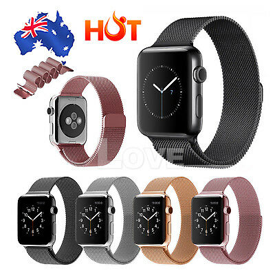 AU10.35 • Buy Milanese Magnetic Loop Stainless Steel Strap IWatch Band For Apple Watch 42mm/38