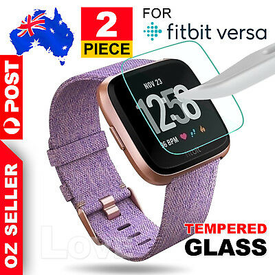 AU4.25 • Buy 2x For Fitbit Versa Screen Protector 9H Tempered Full Coverage Glass Guard