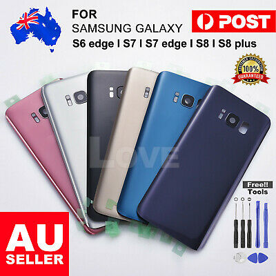 AU9.85 • Buy NEW For Samsung Galaxy S7 Edge Back Rear Glass Housing Battery Cover Case +TOOLS