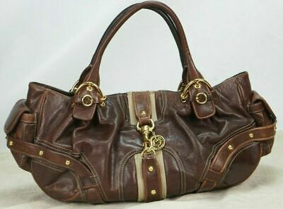 a1fc71853 JUICY COUTURE Brown Leather Satcher Tote Purse Handbag • 35.00$