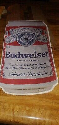 $ CDN9.82 • Buy Vintace 1990 Anheuser Bush Budweiser Beer Can Decal 7.5  X 14.25  New