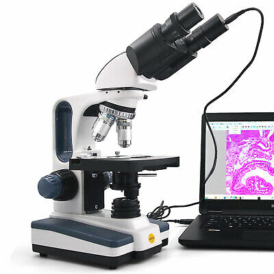 $219 • Buy SWIFT 40X-2500X Brinocular Compound Microscope LED Lab Light With Digital Camera