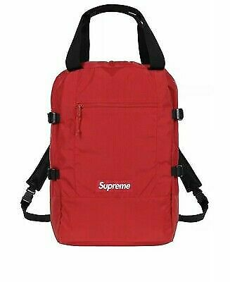 $ CDN253.10 • Buy Authentic Supreme Red Tote Backpack Exclusive Drop - Red