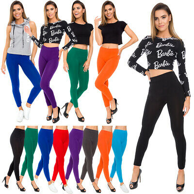 £3.99 • Buy Womens Seamless Solid Plain Leggings High Waisted Stretchy Pants M-3XL FS29017