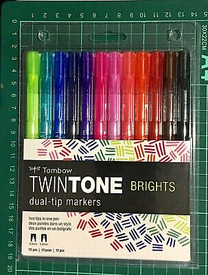 AU26 • Buy Tombow Twintone Dual Tip Markers ~brights Code 61500