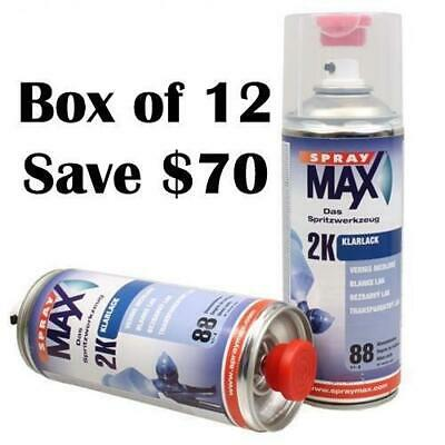 AU649.99 • Buy Spray Max Automotive 2K Component High Gloss Clear Coat 400ml Box Of 12