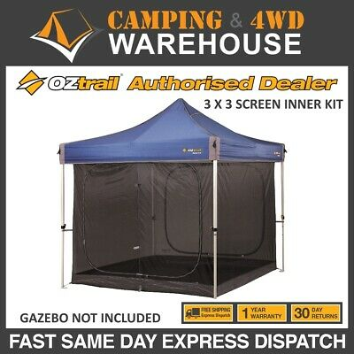 AU185 • Buy OZTRAIL  INNER SCREEN KIT 3m X 3m - Gazebo Not Included 3.0M DELUXE GAZEBO