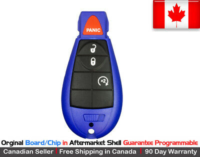 $ CDN49.95 • Buy 1. OEM New Blue Replacement Keyless Entry Remote Key Fob For Chrysler Dodge Jeep