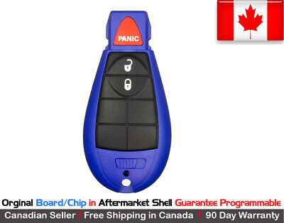 $ CDN49.95 • Buy 1. OEM New Blue Replacement Keyless Entry Remote Key Fob For Jeep Chrysler Dodge