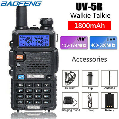 Baofeng UV-5R VHF/UHF Dual Band USB Two Way Ham Radio Walkie Talkie Earphone • 19.99£
