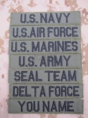 $4.25 • Buy Green Chest Tapes Custom Name Tapes ARMY NAVY SEAL DELTAEmbroidery Patch