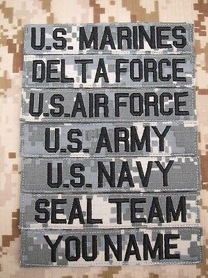 $4.25 • Buy ACU Chest Tapes Custom Name Tapes ARMY SEAL NAVY AIR Embroidery Patch