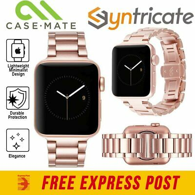 AU71.24 • Buy CASEMATE Stainless Steel Linked Band Apple Watch (40mm - 38mm) 5/4/3- Rose Gold